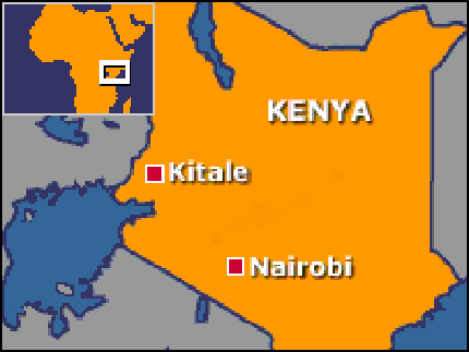 Shows the position of Kitale