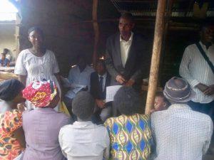 Pastor Stephen teaching in Sikunga