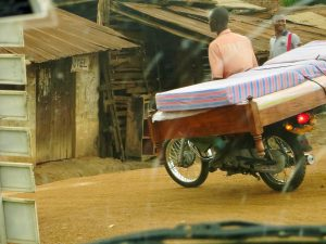 Bed on motorcycle