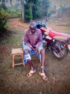 Motorcycle accident in Kenya