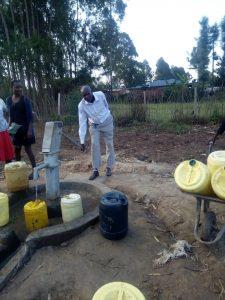 Pumping water at Machakha, Kenya